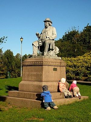 Peter Christen Asbjørnsen - Peter Christen Asbjørnsen monument at St. Hanshaugen Park
