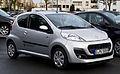 Peugeot 107 68 Style (2. Facelift) – Frontansicht, 26. Januar 2014, Ratingen.jpg