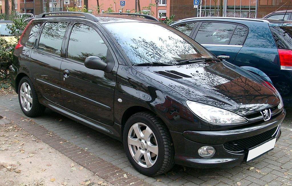 file peugeot 206 sw front wikimedia commons. Black Bedroom Furniture Sets. Home Design Ideas