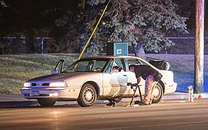 Shooting of Philando Castile - Minnesota Bureau of Criminal Apprehension (BCA) investigators process the scene.