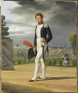 Antoine Galiot Mandat de Grancey - An officer of the National Guard in the Tuileries garden.