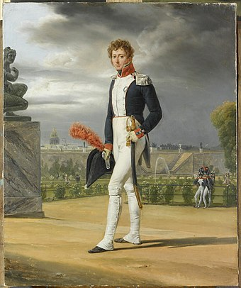 Philippe Lenoir, (1785-1867), French painter, in his National Guard uniform. By Horace Vernet (1789-1863). Philippe Lenoir by Horace Vernet.jpg