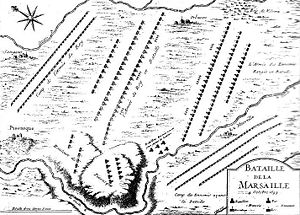 Battle of Marsaglia - Map of Marsaglia