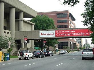 Phoenix Hill, Louisville - Preston Street on the U of L Health Sciences Campus