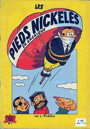 Franco-Belgian comics - The French comic Les Pieds Nickelés (1954 book cover): an early 20th century forerunner of the modern Franco-Belgian comic