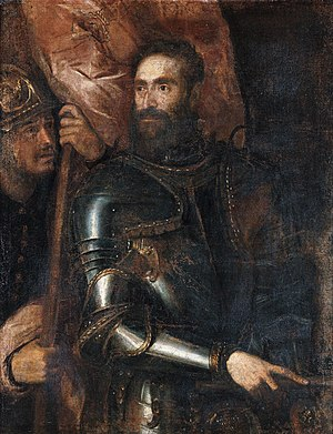 Pier Luigi Farnese, Duke of Parma - Pier Luigi Farnese in a portrait by Titian.