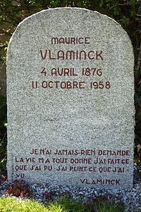 Pierre tombale Vlaminck cimetière Rueil-la-Gadelière Eure-et-Loir (France).JPG