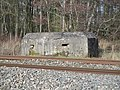 Pillbox overlooking the railway and Kennet and Avon Canal, Kintbury 01.jpg