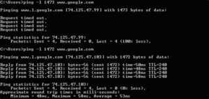 A command prompt showing a server denying a pi...