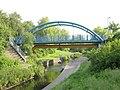 Pipe bridge over the River Pool - geograph.org.uk - 841033.jpg