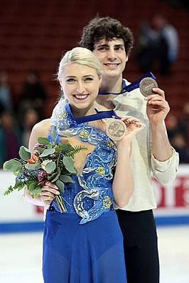 Piper Gilles and Paul Poirier at the 2019 Four Continents Championships - Awarding ceremony.jpg