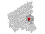 Location of Pittem in West Flanders