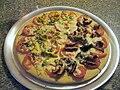 Pizza with shitake mushrooms and lorocos.jpg