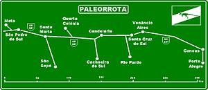 BR-287 - Image: Placa Paleorrota