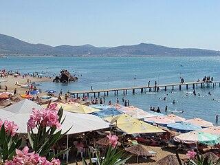 Burhaniye Town in Aegean, Turkey