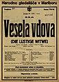 Plakat za predstavo Vesela vdova v Narodnem gledališču v Mariboru 25. decembra 1925.jpg
