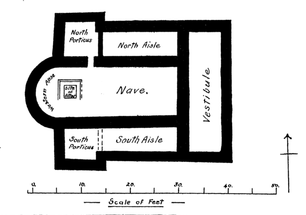 Plan of the Romano-British Church Silchester, Hants.png