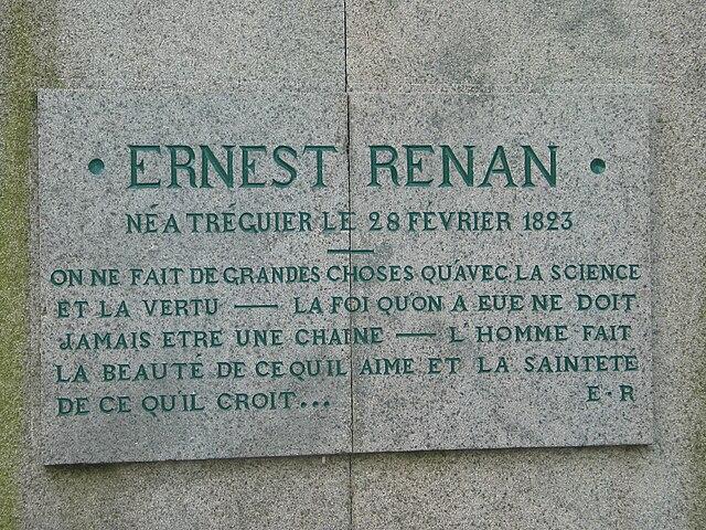 Мемориальная доска на доме, где родился Ренан