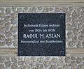Plaque Raoul Aslan, Strudlhofgasse 13, Alsergrund.jpg