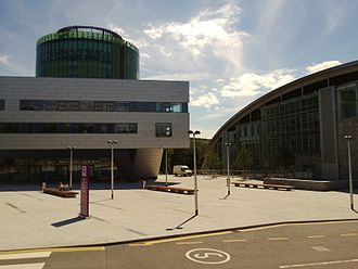 Robert Gordon University - Main plaza at Garthdee campus