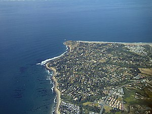 Point Dume - Point Dume viewed from the air, facing southwest