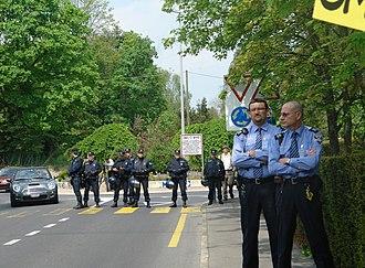 Crime in Switzerland - Swiss police in Geneva.