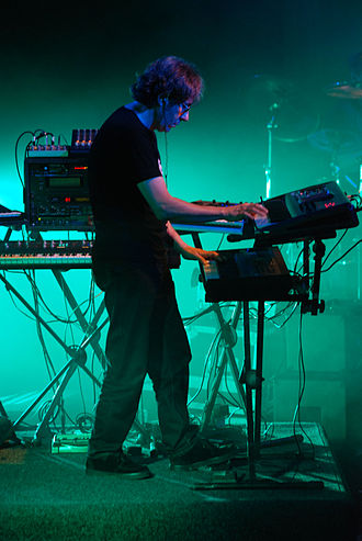 Porcupine Tree - Richard Barbieri during a Porcupine Tree performance in Kraków, Poland, in 2007