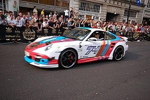 2007 Gumball 3000 collision - Nicholas Morley in his Techart TechArt Porsche 997 Turbo prior to the crash.