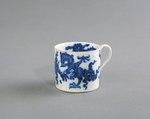 Porslin. Kopp. Vit med blå dekor - Hallwylska museet - 89084.tif