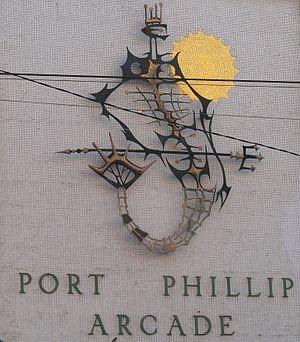 Port Phillip Arcade, Melbourne - Mural at Port Phillip Arcade
