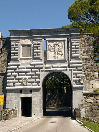 Gorizia - The Leopold Gate, built in the late 17th century in honour of Leopold I, Holy Roman Emperor