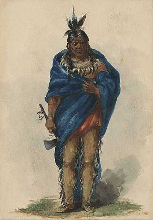 Fort Astoria - Image: Portrait of Chief Comcomly
