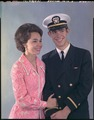 Portrait of Julie and David Eisenhower (David in naval uniform) - NARA - 194357.tif