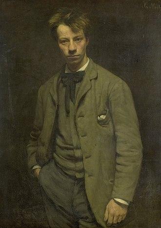 Albert Verwey - Albert Verweyby Jan Veth (1885)