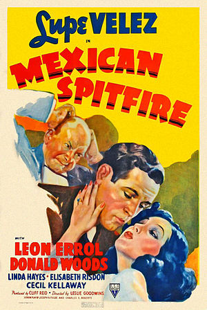 Mexican Spitfire (film) - Promotional poster of the film