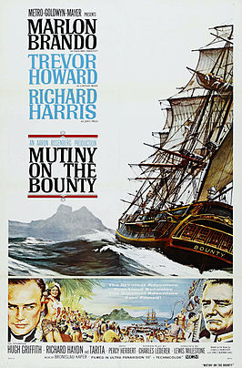 Aanplakbiljet voor Mutiny on the Bounty