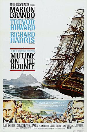 Mutiny on the Bounty (1962 film) - Original film poster by Reynold Brown