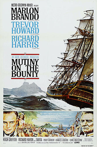 Mutiny on the Bounty (1962 film) - Original film poster by Reynold Brown