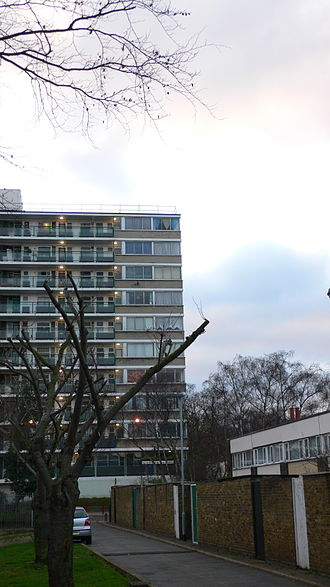 Philip Powell (architect) - Houses and flats by Powell and Moya, Gospel Oak, London