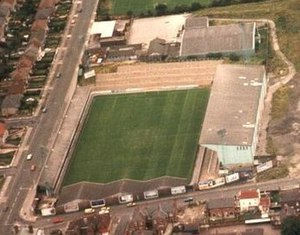 Prenton Park - The ground in 1986