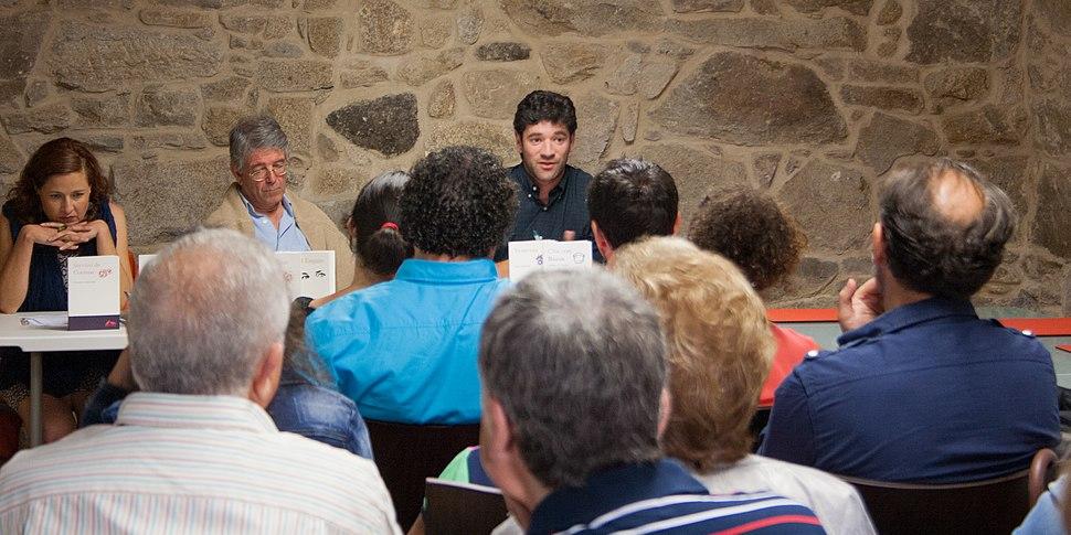 Presentation of the Galician publisher Hugin e Munin in Cambados, Galicia, Spain (1)