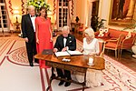 President Trump and First Lady Melania Trump at Winfield House (48008753443).jpg