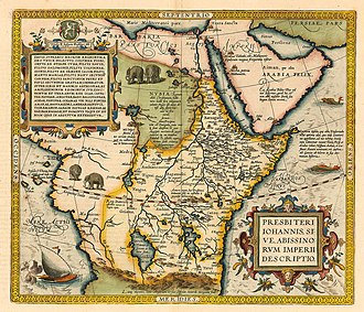Prester John - A map of Prester John's kingdom as Ethiopia