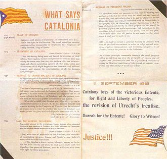 Estelada - Catalan leaflet from 1918 with the first Estelada