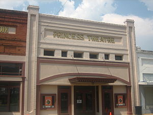 Winnsboro, Louisiana - The Princess Theatre in downtown Winnsboro