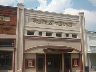 Winnsboro, Louisiana - The Princess Theatre in downtown Winnsboro