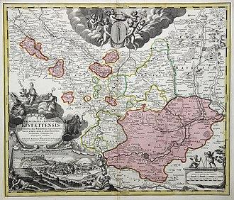 Bishopric of Eichstätt - Prince-Bishopric of Eichstätt, J.B. Homann, c.1717