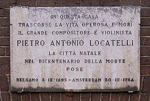 Pietro Locatelli - Plaque Prinsengracht 506, Amsterdam