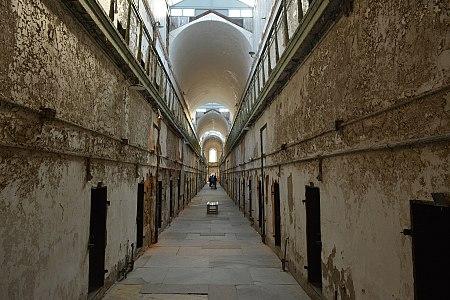 Prison corridor eastern state penitentiary