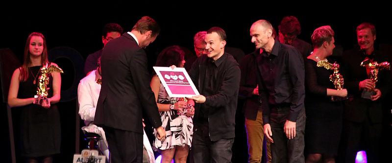 File:Prix ars electronica 2012 39 qaul.net - Christoph Wachter, Mathias Jud.jpg